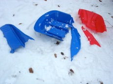 Broken Injection Moulded Sledges